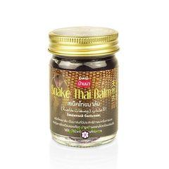 Черный тайский бальзам  со змеиным жиром/Snake Thai balm, Banna