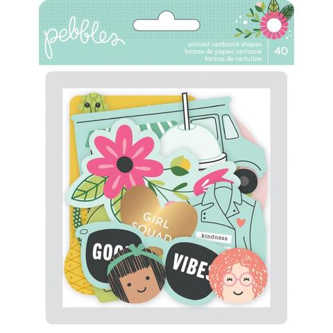 Высечки -коллекция Girl Squad Ephemera Cardstock Die-Cuts  - Pebbles -40шт.