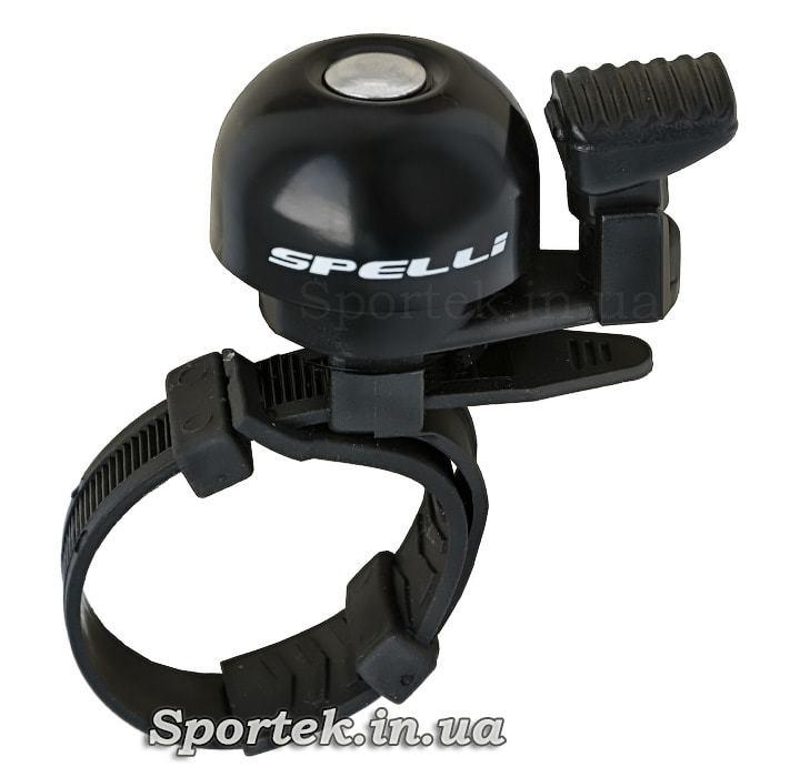 Маленький велосипедний дзвінок Spelli SBL-709 на стяжці