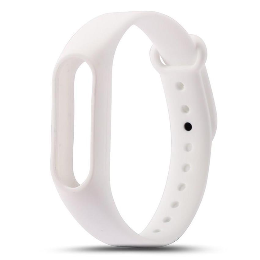 Белый вариант цвета сменного цветного браслета на Smart Mi Band 2