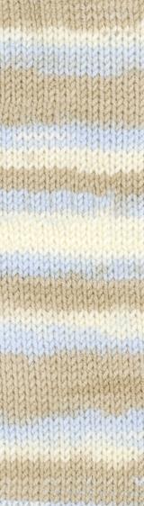 Пряжа Alize Baby Best Batik 6657 бежево-голубой