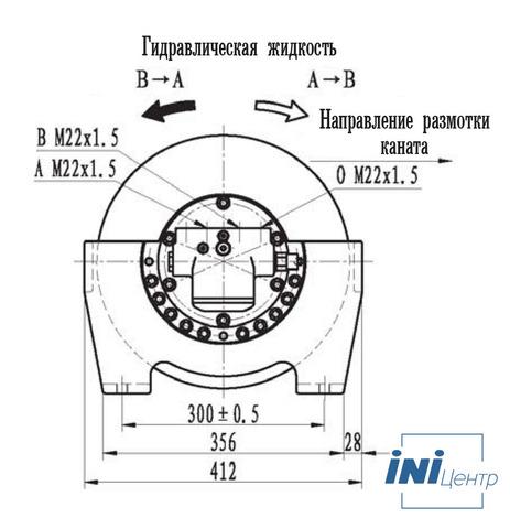 Эвакуационная лебедка IYJ2.52.5-25-100-12-ZPNC