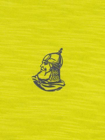 Футболка с длинными рукавами салатового цвета с круглым вырезом