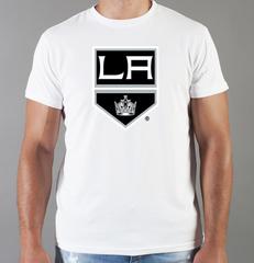 Футболка с принтом НХЛ Лос-Анджелес Кингз (NHL Los Angeles Kings) белая 002