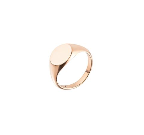 Кольцо-печатка в розовой позолоте