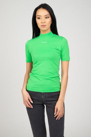 Женская футболка MICRO BRANDING STRETCH MOCK NECK Calvin Klein