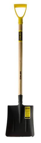Лопата ZINLER совковая песочная (тип1) с деревянным черенком 740 мм и ручкой ЛСП1Ч2р