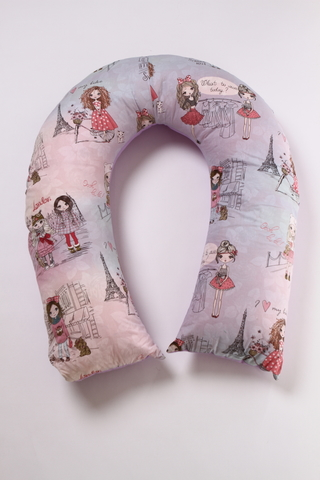 Комплект подушка + наволочка U-300 (лебяжий пух) 12347 розовый