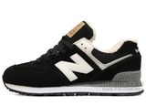 Кроссовки Мужские New Balance 574 Black White Winter Edition С Мехом