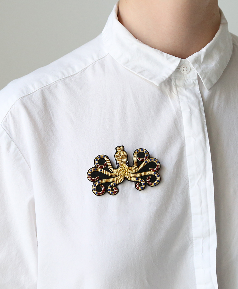 Брошь Octopus