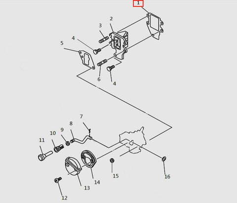 Прокладка клапанной площадки внут. для лодочного мотора T9.8 Sea-PRO (4-1)