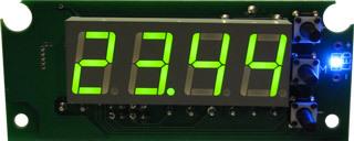 EK-STH0024UG - цифровой встраиваемый термостат с выносным датчиком, зеленый