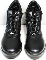 Ботинки в спортивном стиле женские Evromoda 375-1019 SA Black