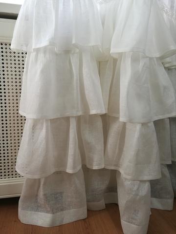 Комплект штор лен Франсуаза белый