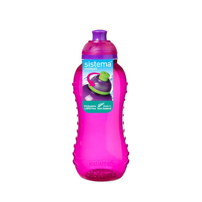 """Бутылка для воды Sistema """"Hydrate"""" 330  мл, цвет Розовый"""