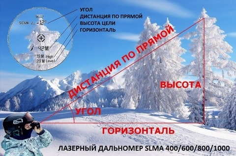 ЛАЗЕРНЫЙ ДАЛЬНОМЕР SLMA 400 GREEN