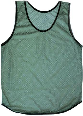Манишка футбольная, ткань аналог Adidas, сетка 80 гр, фисташковая серая