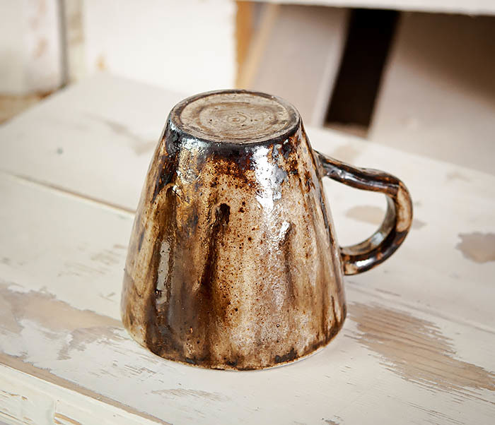 CUP106 Красивая кружка из глины для чая и кофе ручной работы (180 мл) фото 05