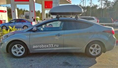 Автобокс Way-box 350 литров на Hyundai Elantra