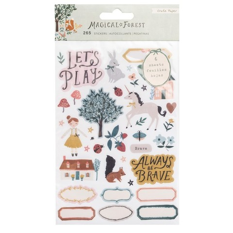 Стикеры Magical Forest от Crate Paper - 6 листов 12*20 см