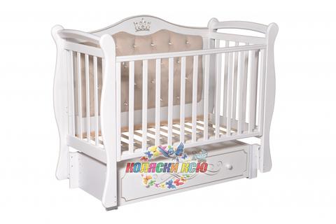 Детская кроватка Антел «JULIA 111» с мягкой стенкой