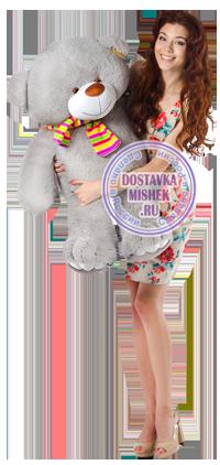 Плюшевый мишка Семен 110 см серый