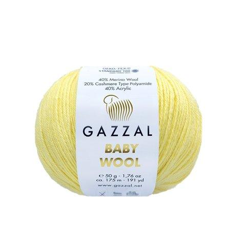Пряжа Gazzal Baby Wool 833 лимонный