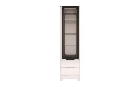 Шкаф комбинированный Танго 24 Ижмебель белый матовый/черный матовый