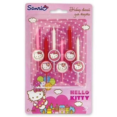 Свечи для торта Hello kitty, 6 штук