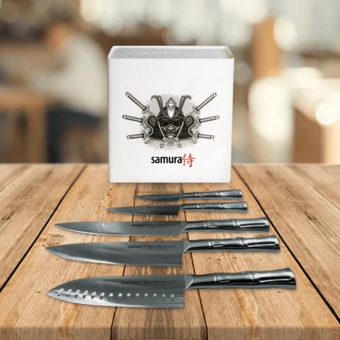 Набор ножей Samura BAMBOO и подставка KBH-101S1