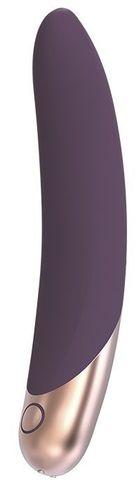 Фиолетовый вибромассажер ASTERIA - 21 см.