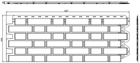 Фасадная панель Альта Профиль Кирпич клинкерный Белый 1220х440 мм