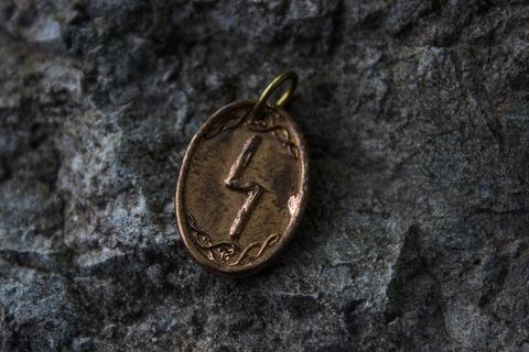 бронзовый рунический оберег Соулу