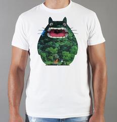 Футболка с принтом Мой сосед Тоторо (Totoro) белая 009