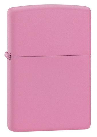 Зажигалка Zippo Pink Matte с покрытием Pink Matte, латунь/сталь, розовая, матовая, 36x12x56 мм123