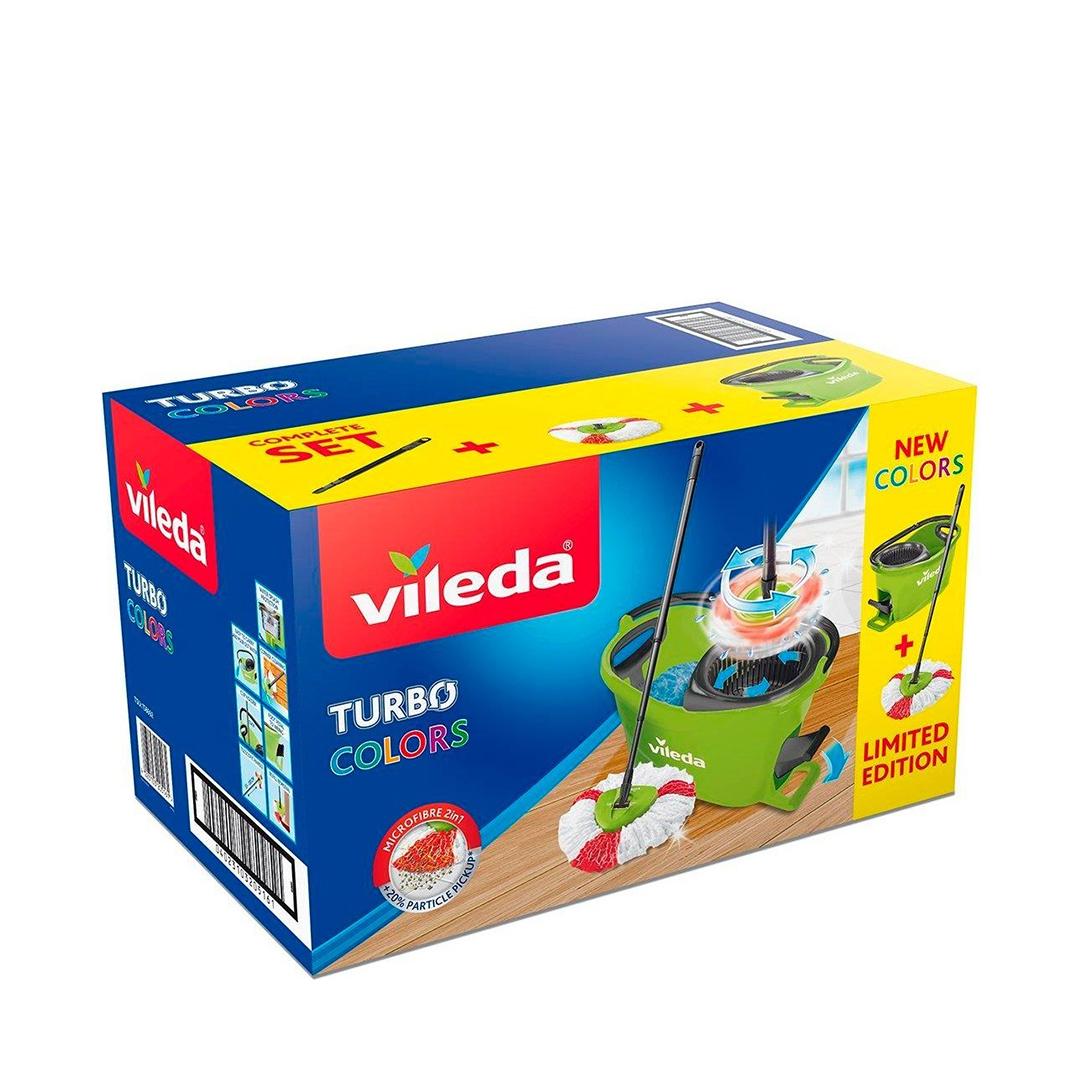 Набор для уборки VILEDA TURBO Colors, зеленый с педальным отжимом