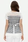 Блузка для беременных 07561 белый/синяя полоса