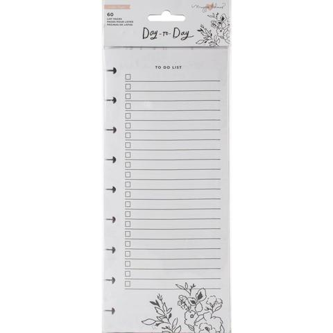 Внутренний блок для планера Maggie Holmes Day-To-Day Dbl-Sided Notepad-  Shopping & To-Do List