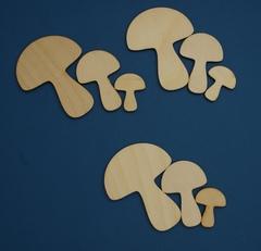 056-6626 Фигурка, грибы 12 шт.