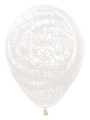Шар (12''/30 см) Граффити, Ледяной узор, Прозрачный (390), кристалл.