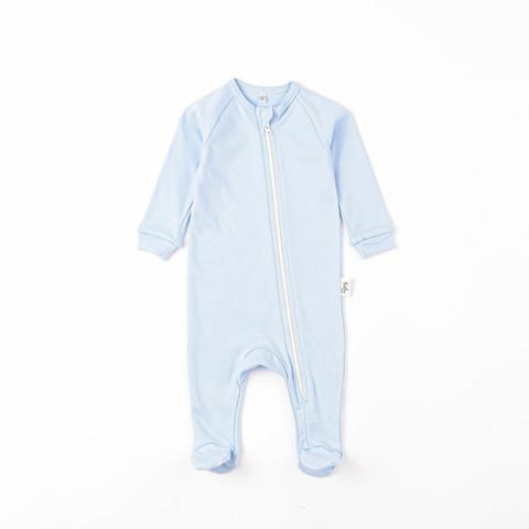 Zip-up sleepsuit 0+, Light Denim