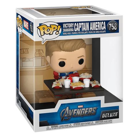 Фигурка Funko POP! Deluxe Bobble Marvel Captain America Shawarma (Exc) 54897