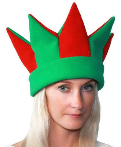 Карнавальная шапка Скоморох зелёный