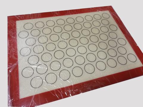 Коврик силиконовый армированный с разметкой для макаронс, 30х40 см