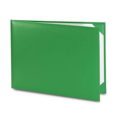 Обложка / корочка «Колор» для диплома или сертификата (зеленая)