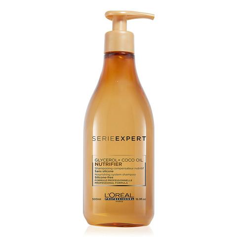 Шампунь для сухих волос, L'Оreal Serie Expert Nutrifier Glycerol+Coco Oil Shampooing, 500 мл.