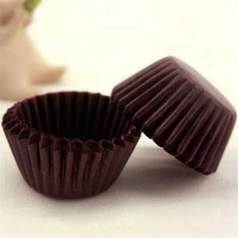 Капсулы для конфет коричневые, 30х20 мм, 25 шт