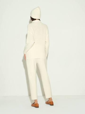 Женские брюки молочного цвета из шерсти и кашемира - фото 4