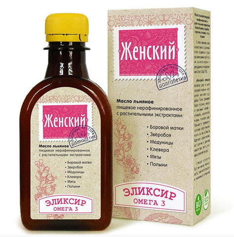 Компас здоровья масло льняное с растительными экстрактами «Женский эликсир»