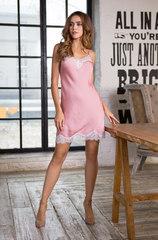 Сорочка с кружевом розовая